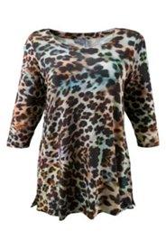 Shirt mit Leopardenmuster, A-Linie
