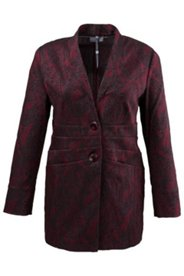 Jacquard-Blazer mit Paisleymuster, langes Modell