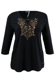 Shirt mit Metallic-Dekor, A-Linie