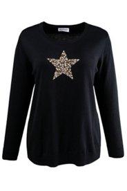 Pullover mit Stern aus Stäbchenperlen