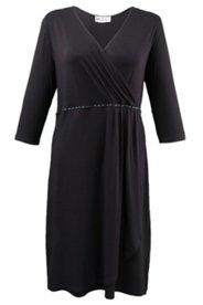 Kleid in Wickeloptik, Stretch