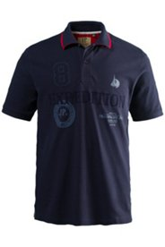 Poloshirt, Pikee-Jersey, Sailing-Tour-Schriftzug auf Unterkragen