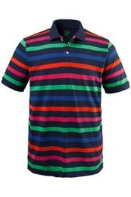 Poloshirt, Pikeejersey, feine Streifen