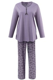 Pyjama mit Spitzendruck