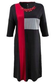 Kleid in Colorblocking-Optik, mit Ziersteinen
