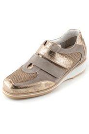 Sneaker mit Klettverschluss und Metallic-Effekt, Weite H