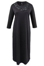 Kleid Homewear, 3/4-Ärmel, Perlenverzierung am Ausschnitt