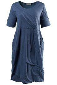 Kleid in O-Form mit strukturierter Oberfläche, Biobaumwolle