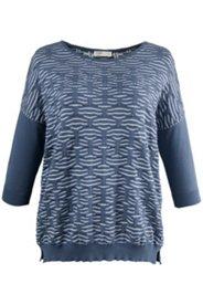 Oversized-Pullover aus zweifarbigem Strukturstrick, Biobaumwolle