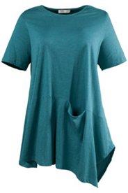 Shirt mit Tasche, Biobaumwolle, geflammte Struktur