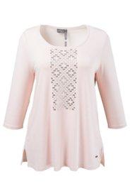 Shirt mit Metallic-Ornament, A-Linie