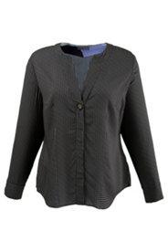 Kragenlose Bluse, leicht transparent