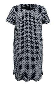 Kleid mit Taschen, gerade Silhouette