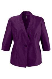 Jacke mit asymmetrischem Kragen, Leinenmischung