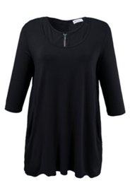 Longshirt im Lagen-Look mit Reißverschluss