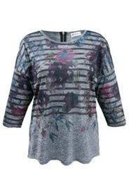 Shirt mit Metallic-Streifen, Stretch
