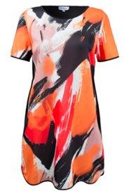 Shirtkleid mit modischem Kunstdruck