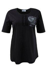 Shirt mit Knöpfen und Aufdruck, 100 % Baumwolle