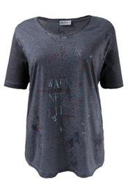 Shirt mit Schriftdruck und Metallic-Effekt