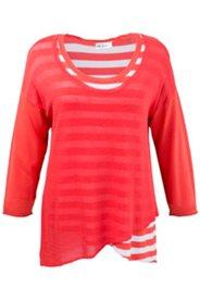 2-in-1-Pullover mit transparentem Feinstrick