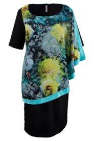 Kleid mit zweiter Stofflage aus Chiffon