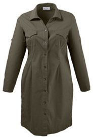 Kleid mit langer Knopfleiste, Stretch