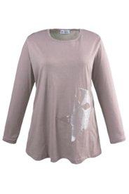 Langarmshirt mit Stern aus Pailletten, 100 % Baumwolle