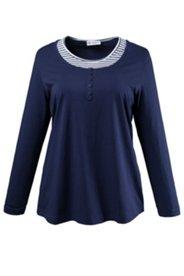 Shirt mit Ringeleinsatz, A-Linie