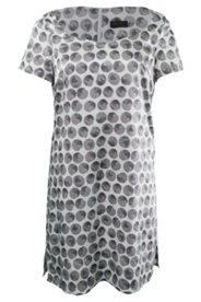 Kleid mit Herzausschnitt, Seidenmischung