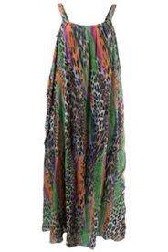 Doppellagiges Kleid aus Jersey und Chiffon