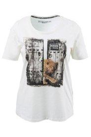 Shirt mit Leoparden-Motiv und Glitzersteinen