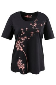 Shirt, Pusteblumen-Motiv, Halbarm, Rundhals