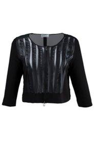 Shirtjacke mit Details in Lederoptik, 2-Wege-Reißverschluss