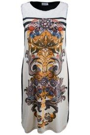 Kleid mit Spitzendetails und Edelsteinmotiv, Stretch