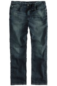 5-Pocket-Jeans, Straight Fit, Used-Effekt