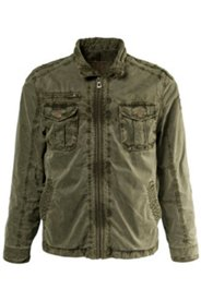 Jacke, Military-Style, gemustertes Futter