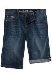 Jeans-Bermuda, Denim, 5-Pocket-Style, Saum zum Krempeln