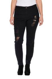 Skinny-Jeans, Risse und Löcher, 5-Pocket-Cut