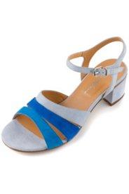 Sandaletten aus weichem Veloursleder, Weite H