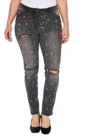 Jeans, Destroy- und Paint-Effects, Skinny Style, 5-Pocket aus Stretchdenim