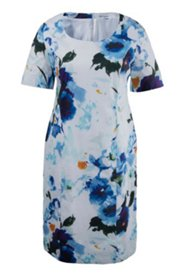 Sommerkleid mit elegantem Blütenmuster, Stretchkomfort