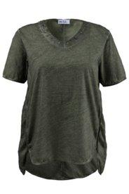 Shirt mit Teilungsnähten und verlängertem Rücken