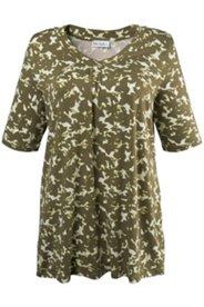 Shirt mit Blütenmuster, A-Linie