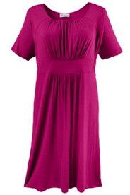 Jerseykleid mit Raffungen und Stretchkomfort