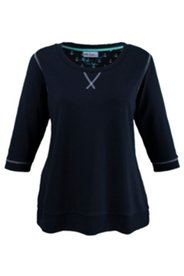 Sweatshirt mit Ellenbogenflicken und Ankermotiv