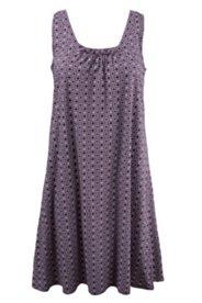 Kleid, elastische Qualität, Minimalmuster, ärmellos, Rundhalsausschnitt