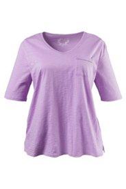 Shirt mit Brusttasche und Lochstickerei, 100 % Baumwolle