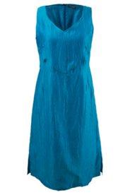 Leinencrash-Kleid mit dekorativen Teilungsnähten, gefüttert