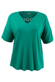 Shirt mit Metallic-Spange, oversized