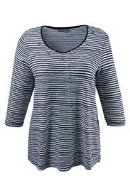Shirt mit gemusterten Ösen am Ausschnitt, Viskose-Crêpe